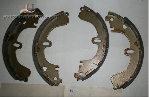 Колодки барабанного тормоза Toyota Camry, Carina E, Corolla