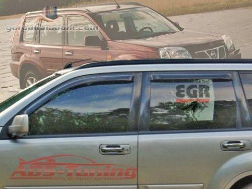 Ветровики (дефлекторы окон) Nissan X-Trail 2001-2007 гг.в.