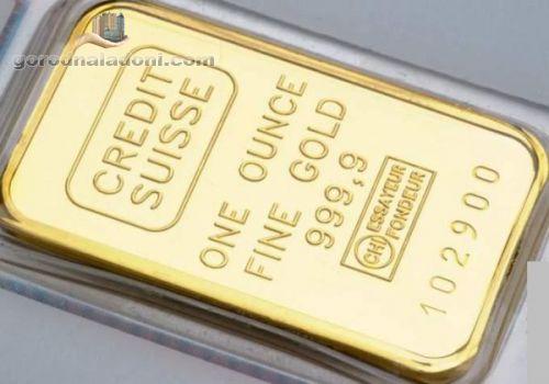 Продажа золота 999,9 пробы в слитках от 100 грамм